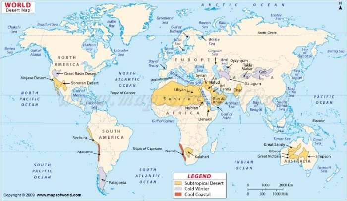Spacial distribution the deserts on this map are in different continents to each other there is three deserts in north america two in south america around ten in africa gumiabroncs Choice Image